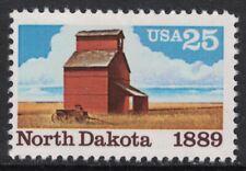 Scott 2403- North Dakota Statehood, Grain Elevator- MNH 25c 1989- unused mint