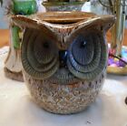 Large Stoneware HORNED OWL ELECTRIC WAX WARMER OIL DIFFUSER