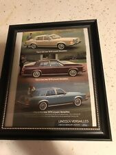 framed vintage advertising poster Ford 1979 Lincoln Versailles Art Print