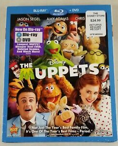 Disney The Muppets (Blu-ray/DVD, 2012, 2-Disc Set) New, With Slipcover
