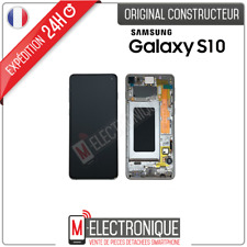 ECRAN LCD BLANC ORIGINAL SAMSUNG GALAXY S10 SM-G973F