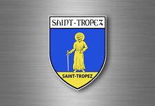 Sticker decal car coat of arms shield crest city france flag saint tropez st