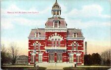 Dayton Ohio Memorial Hall National Soldiers Home 1910 Postcard