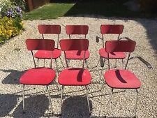6 chaises FORMICA rouge années 50's / 60's Vintage Chaises COLMON