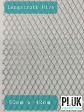 10 Sheets of Expanded Galvanised Varroa Mesh Langstroth Beekeepers 50cm x 42cm