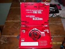 "MARLBORO MILES ASH TRAY 3"" DIAM. W/BOX NEW OLD STOCK EARLY 90s"