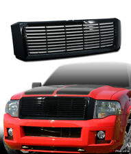 For 2007-2014 Expedition Horizontal Front Bumper Grill Grille Abs - Glossy Black