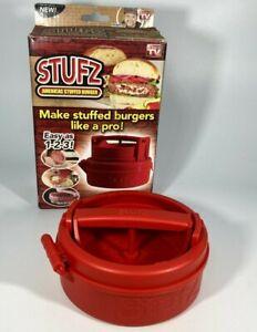 STUFZ Hamburger Press America's Stuffed Burger Maker As Seen On TV