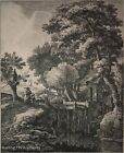 """Anthonie Waterloo Etching """"Great Mill"""" (1609-1676) Fine / Beautiful & Signed"""