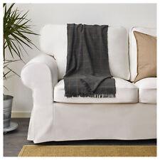 IKEA VÅRKRAGE  Grey | BLUE Checked Sofa Throw (110x170cm)  FAST SERVICE
