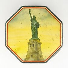 Vintage Loose Wiles Biscuit Company Statue of Liberty Metal Tin Container Cookie
