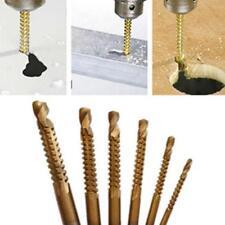 6pcs Ti Drill Bit Woodworking Wood Metal Plastic Cutting Hole Saw Holesaw HSS LD