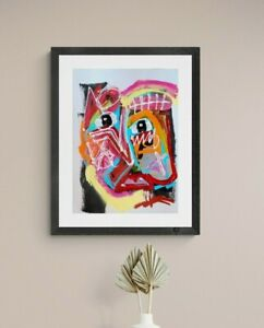 TRAVELER ABSTRACT EXPRESSIONISM ART PAINTING CONTEMPORARY MODERN WALL BEDROOM