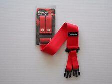 DIMARZIO SHORT NYLON CLIPLOCK STRAP 2 INCH WIDE RED SHORT DD2200S