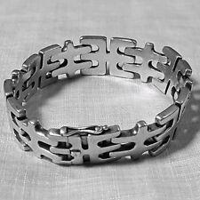 GEORG JENSEN DENMARK geometric link BRACELET #103 c. 1952 STERLING SILVER 63.3 g