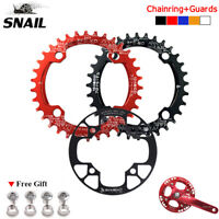 104bcd Round Oval MTB Bike chainring 32/34/36/38/40/42T & Crank Chain ring Guard