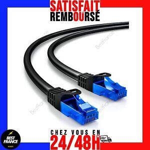 Câble Réseau Ethernet RJ45 Cat6 Connexion Internet Rapide 5m 10m 15m 20m 25m 30m