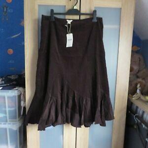 Monsoon, Chocolate Flared cotton skirt size 20 BNWT