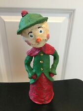 10� Christmas Snowman Lady Monnie Wilson Papier Mache Retired