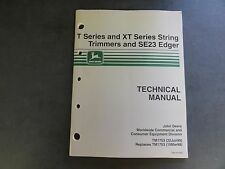 John Deere T Series and Xt Series String Trimmers and Se23 Edger Technical Manua