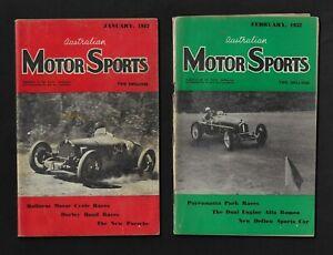 AUSTRALIAN MOTOR SPORTS MAGAZINE 6 ISSUES JAN 1952-JUNE 1952