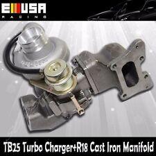 TB25 Turbo+Cast Iron Manifold fits 06-11 Honda Civic R18 EX DX 1.8L