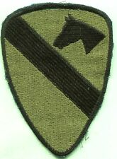 Vietnam Era US Army 1st Cavalry Patch OD Subdued Cut Edge