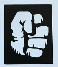 5 superhéroe Hulk Puño Stencils Recarga Kit de Tatuaje Brillo Ur cara pintura de aire