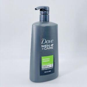 Dove Men+Care Extra Fresh Micro Moisture Body & Face Wash Cooling Agent 23.5oz