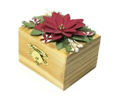With My Hands 3D Handmade Paper Flower Poinsettia Ring Box