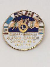 Lions Club Pin District 49-B Alaska-Canada Aurora Borealis 1971-72 Vintage