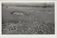 San Francisco California Aerial View of Bay  Vintage  Postcard - c1930's