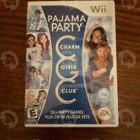 Charm Girls Club: Pajama Party ( Nintendo Wii ) Authentic/Cleaned/Tested