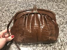 Vintage Brown Lizard Bag