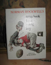 RARE SUITCASE BINDING HANDLE/LOCK NORMAN ROCKWELL'S SCRAP BOOK FOR A YOUNG BOY