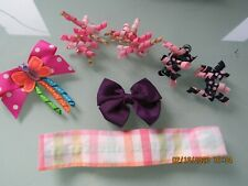 CHOOSE Gymboree CHERRY BABY hair barrettes snap clips plaid bows cherries summer
