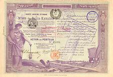 Turquia, SA Ottomane des Mines de Balia - Karaidin, accion, Constantinople, 1904