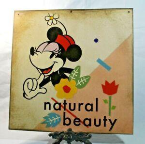 MINNIE MOUSE Retro Handmade WALT DISNEY vintage sign