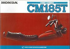 1978 HONDA CM185T 6 Page Motorcycle Brochure NOS