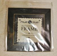 """6"""" x 6"""" Hand Painted Matte Black Wood Frame Mill Hill"""