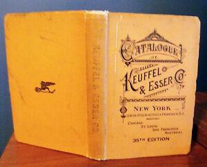 Keuffel Esser Drawing Surveying Measuring Catalog 35th Edition Book 1915