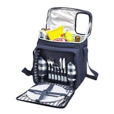 Insulated Picnic Backpack Set - Lunch Tote Cooler Basket w/ Utensils and Plates