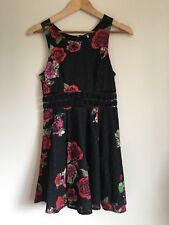Free People Fitted w. Daisies Rose Floral Print Dress ASO Vampire Diaries Size 4