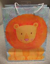 "Lot 12 American Greetings 10"" Gusseted Gift Bags Juvenile Jungle Lion Giraffe"