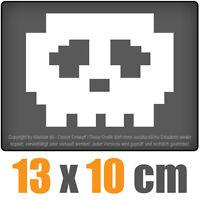 Schädel 13 x 10 cm JDM Decal Sticker Aufkleber Scheibe Auto Car Weiß