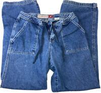 Hydraulics Women's Jeans Long Size 9/10 No Belt Loops Draw String