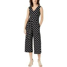 Calvin Klein Womens B/W Wide Leg V-Neck Sleeveless Jumpsuit 4 BHFO 8731
