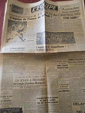 JOURNAL L'EQUIPE  L'EQUIPE DE FRANCE FOOTBALL  1949 (A)
