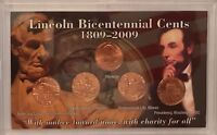 """FIVE COIN SET """"Lincoln Bicentennial 1809-2009 Cent Set in 3 x 5 Frosty Case"""