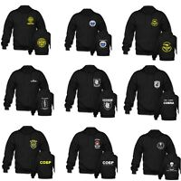Russian Spetsnaz French GIPN GIGN Austria Black Special Forces Zipper Hoodies